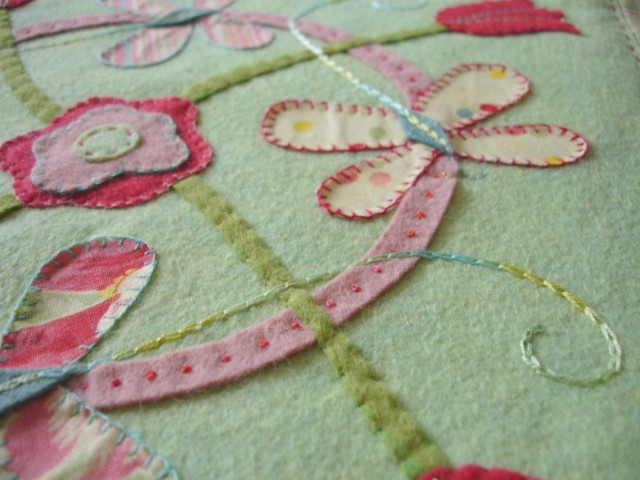 Felted Wool Applique How To Applique