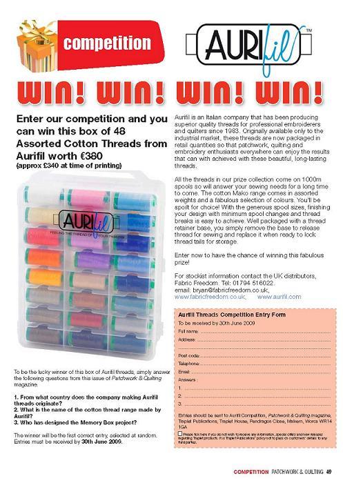 3 P&Q Aurifil competition page