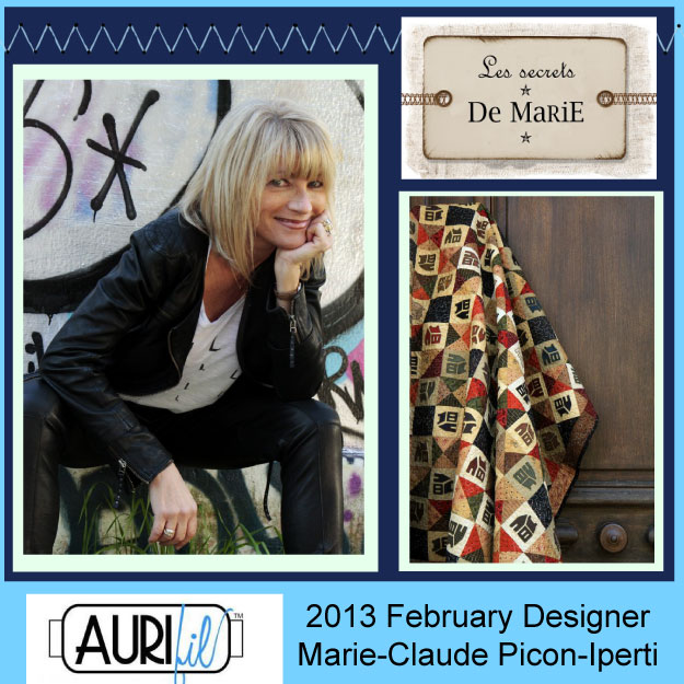 2013 Marie Claude Picon Iperti Jan aurifil designer button