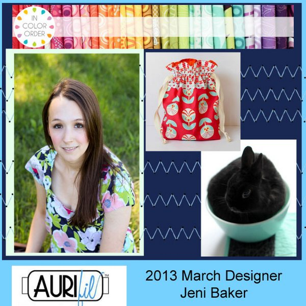 2013 Jeni Baker March Aurifil designer button