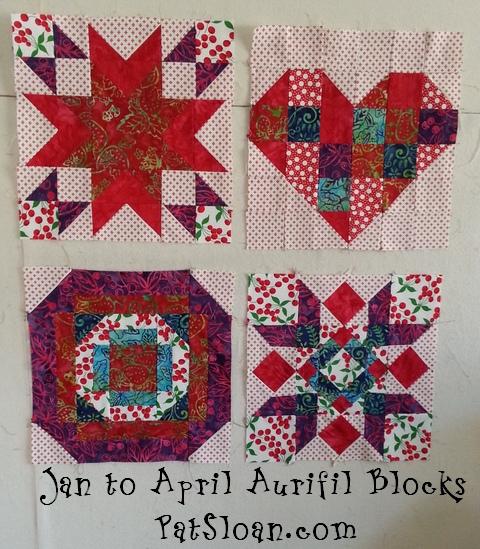 Pat Sloan Jan to Apr Aurifil blocks