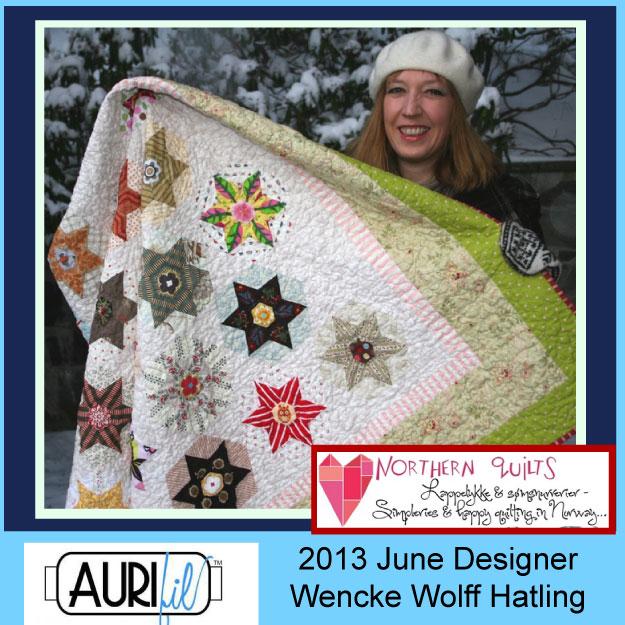 2013 Wencke Wolff Hatling June Aurifil designer button