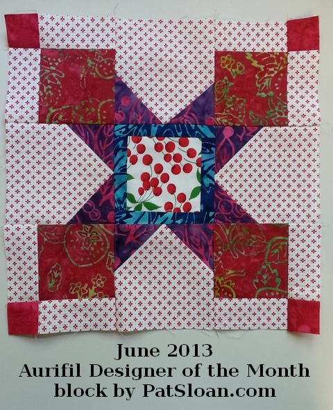 Pat Sloan June 2013 Aurifil Block