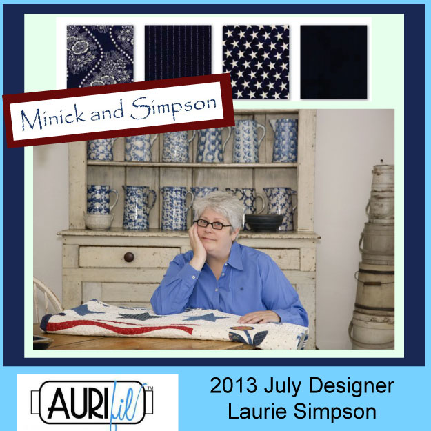 2013 Laurie Simpson July Aurifil designer button