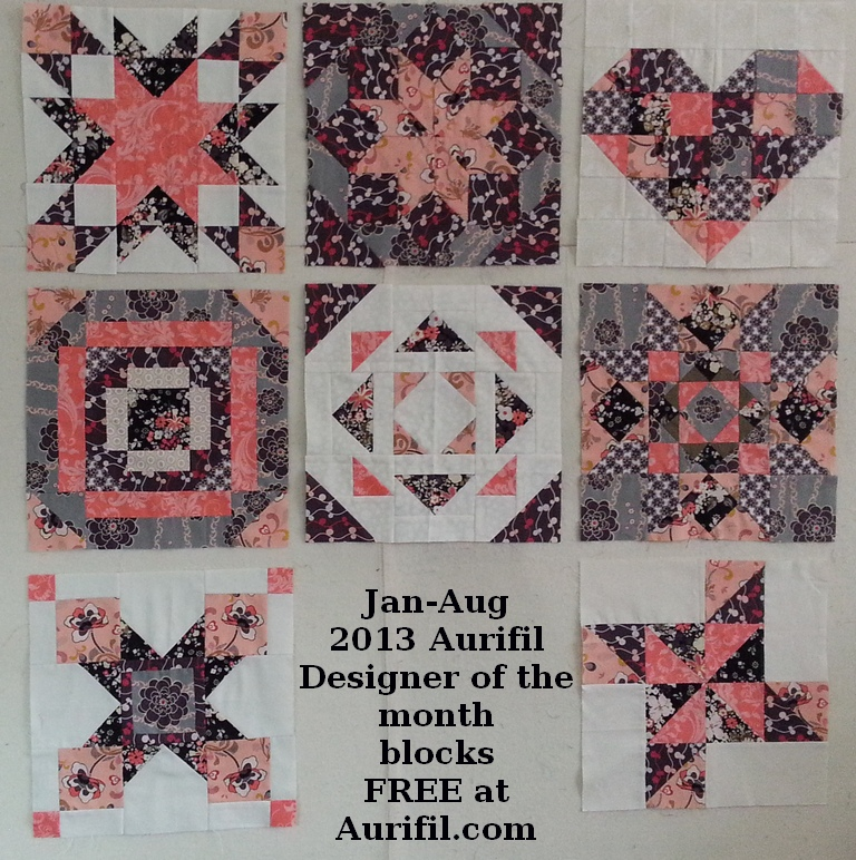 2013 aurifil jan to aug blocks