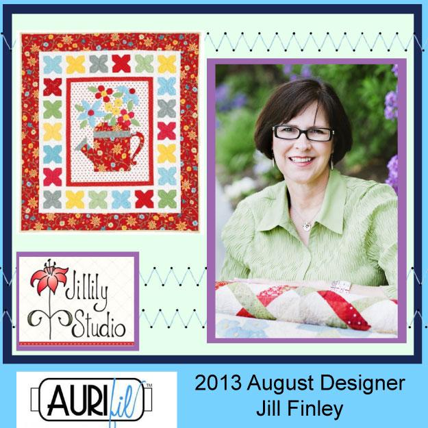 2013 Jill Finley August Aurifil designer button