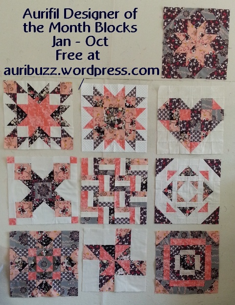 2013 aurifil jan to oct blocks