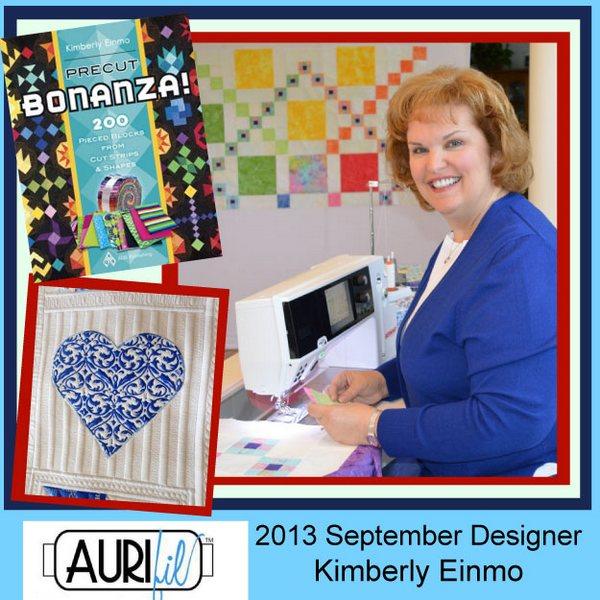 2013 Kimberly Einmo September Aurifil designer button