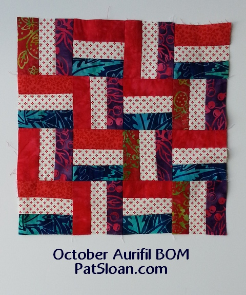 pat sloan october aurifil block 2013