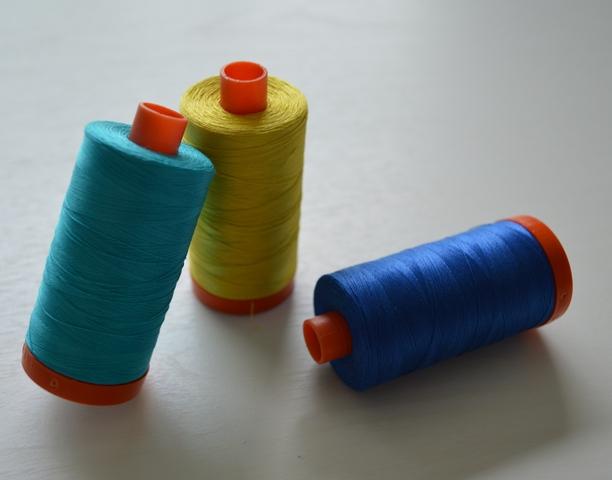 Photo 20 My three favorite colors of Aurifil thread
