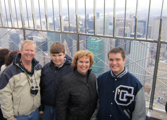 Photo 8 Our family on top of the empire state building
