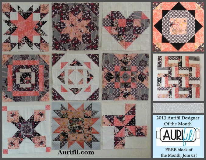 2013 aurifil jan to Nov blocks