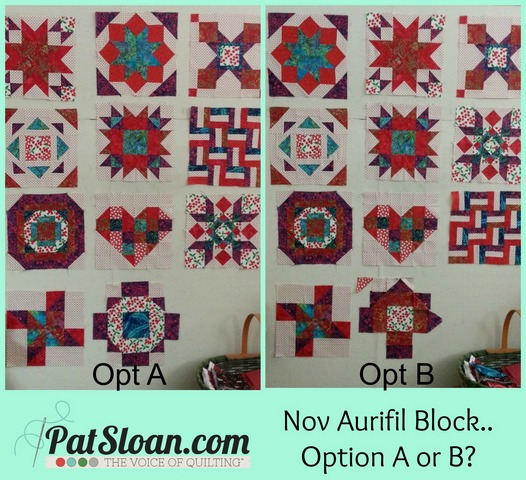 Pat sloan Nov block option a or b