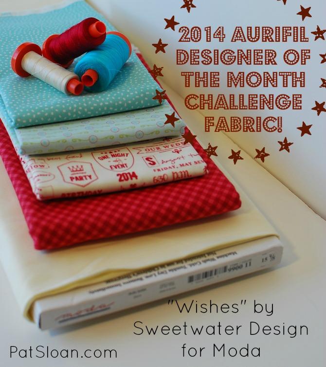 Pat Sloan 2014 Aurifil challenge fabric