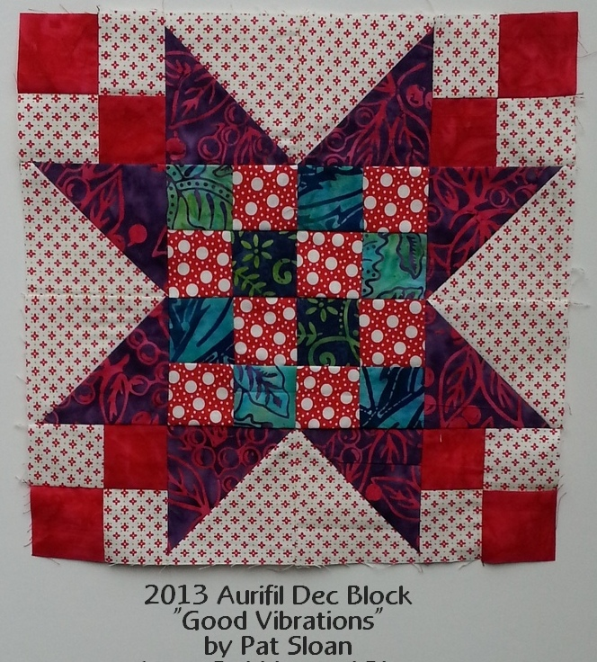 pat sloan dec 2013 aurifil block my fabric