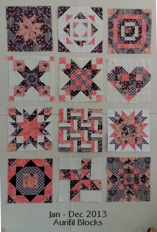 Pat Sloan Jan to Dec 2013 Aurifil blocks