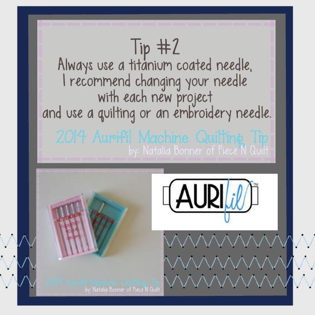 2014 aurifi feb machine quilting tip button