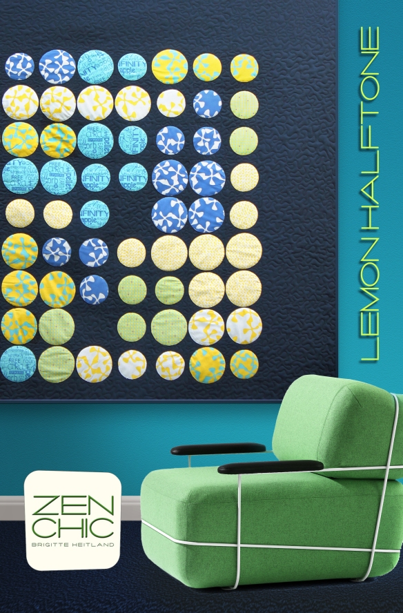 Zen Chic quilt pattern Lemon Halftone Sphere