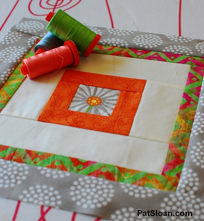 Pat sloan 2014 mar aurifil block with thread