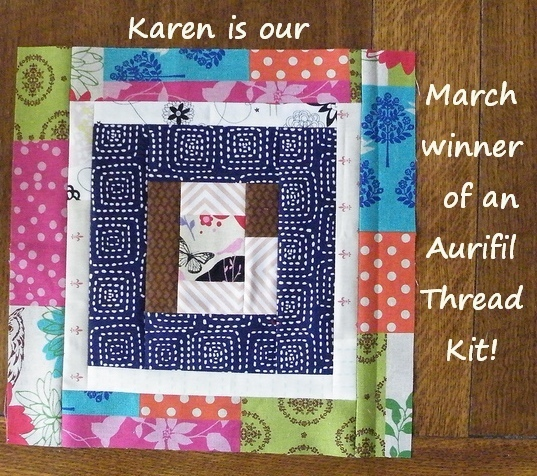 Karen mar aurifil block winner
