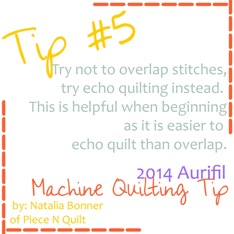 machine quilting tip number five