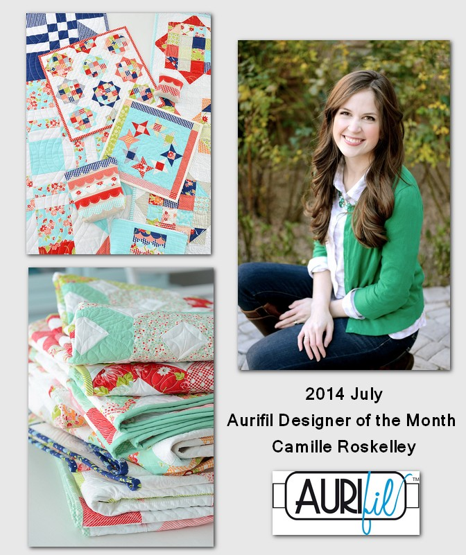 aurifil june designer of the month camille roskelley