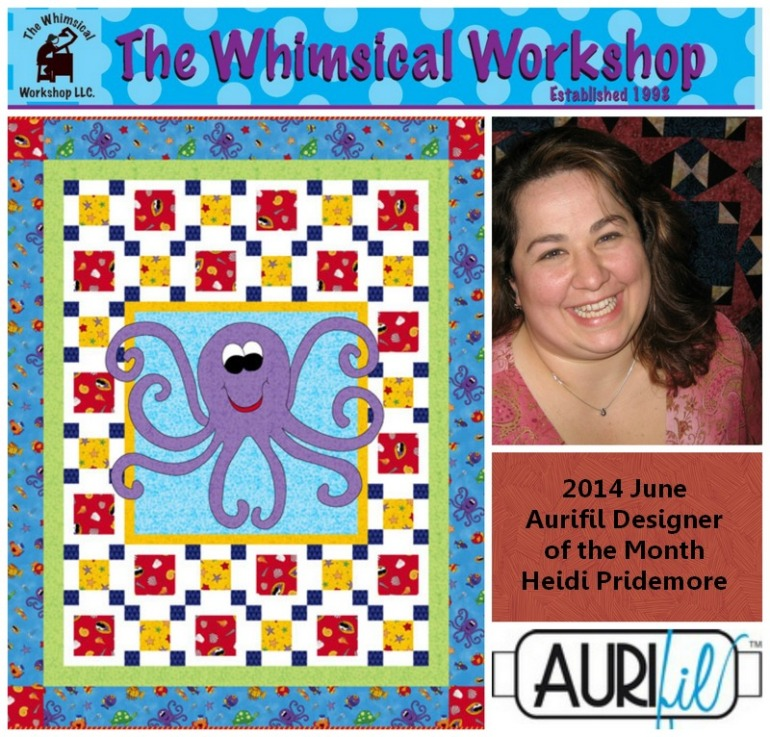 aurifil june designer of the month Heidi Pridemore