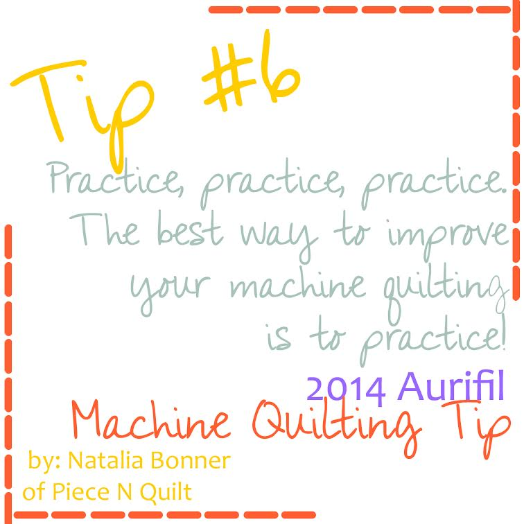 machine quilting tip number sixb