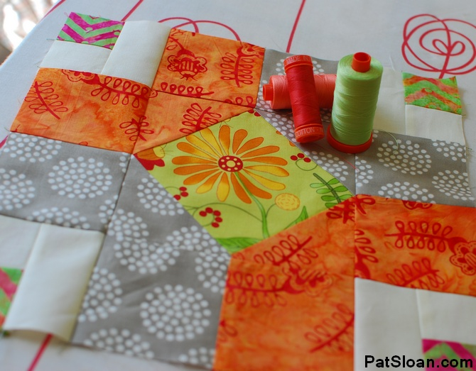 pat sloan 2014 june aurifil block