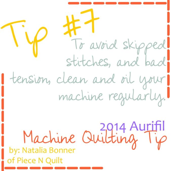 machine quilting tip seven