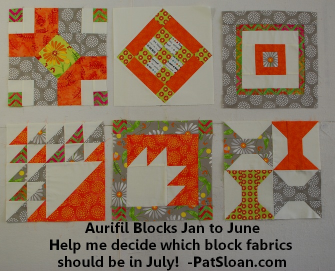 Pat Sloan 2014 aurifil jan to june