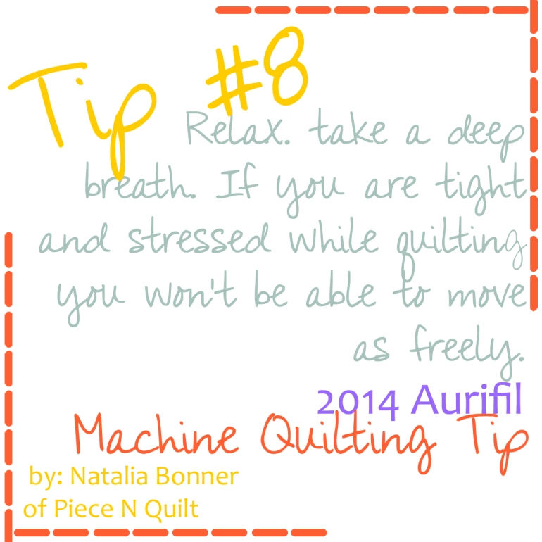 machine quilting tip eight