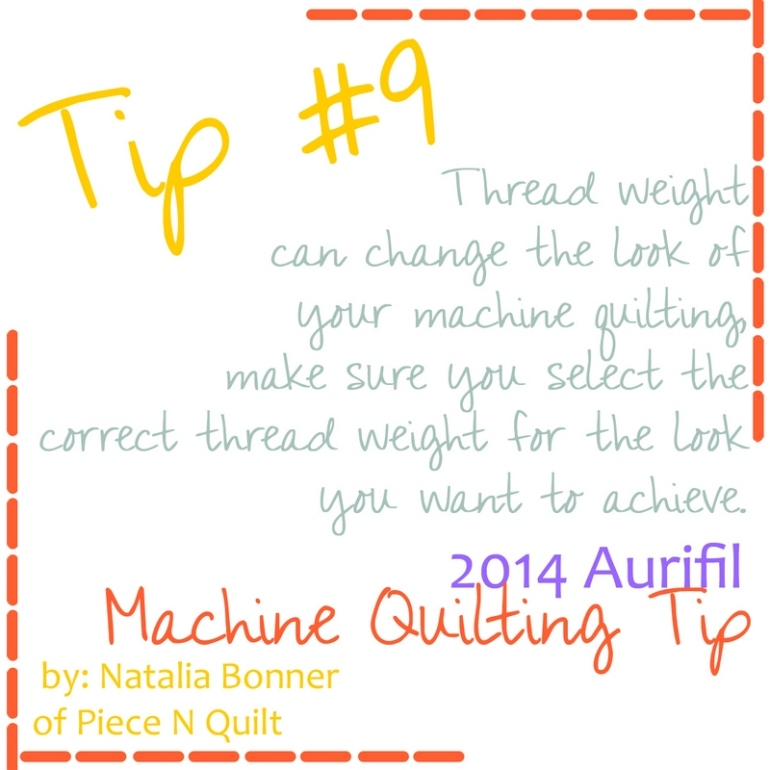 machine quilting tip for aurifil 9