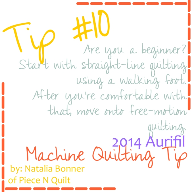 machine quilting tip for aurifil number 10