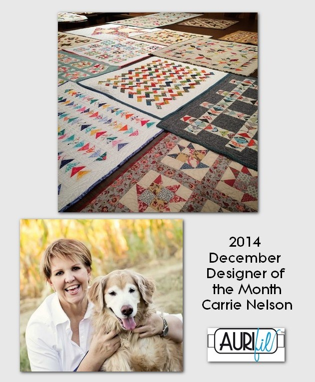 aurifil 2014 Dec designer of the month Carrie Nelson