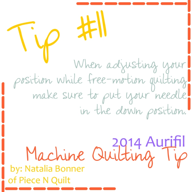 machine quilting tip for aurifil number  11