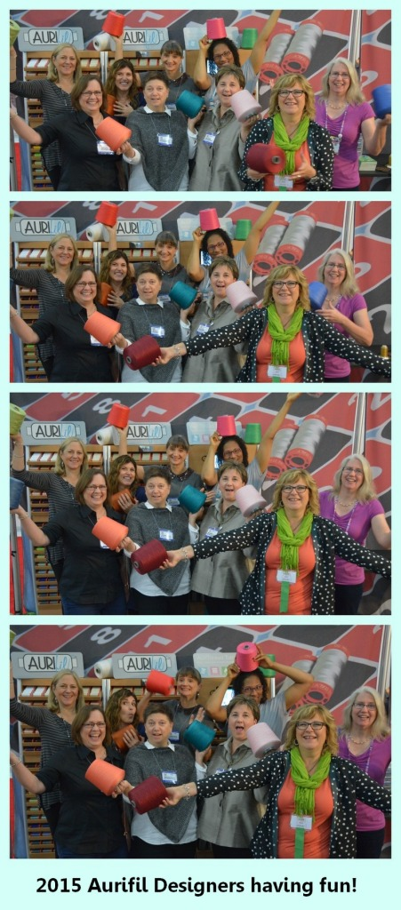 Aurifil 2015 Design Team goofing around
