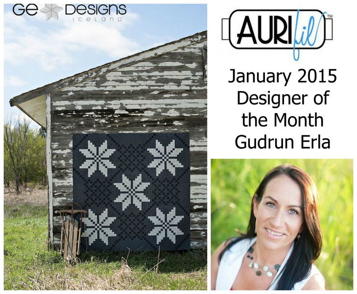 Aurifil January 2015 Designer of the Month Gudrun Erla