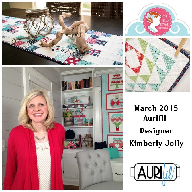 Aurifil March 2015 Designer of the Month Kimberly Jolly