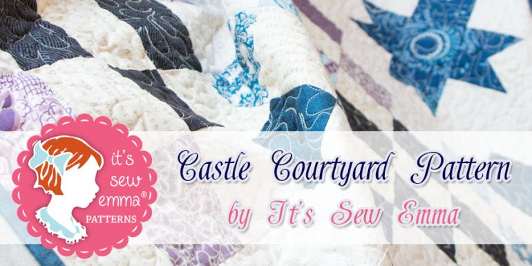 castle couryard pattern banner