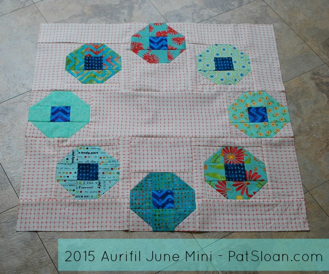 Pat sloan 2015 aurifil june mini tagged