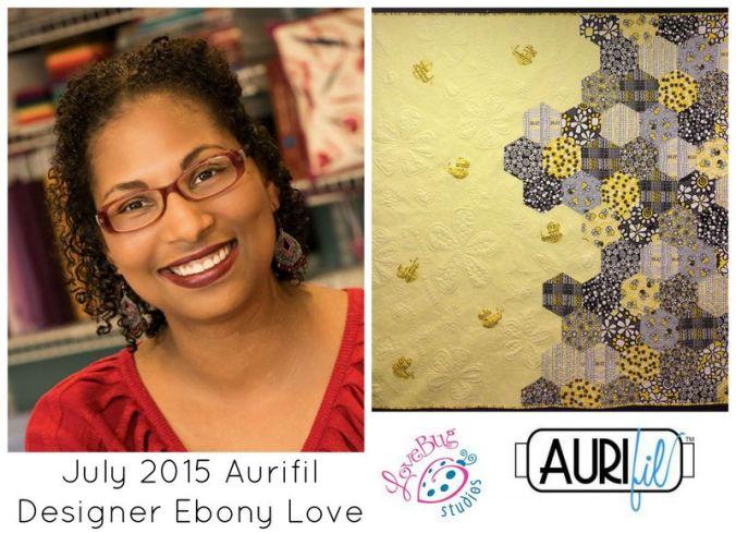Aurifil 2015 July designers logo