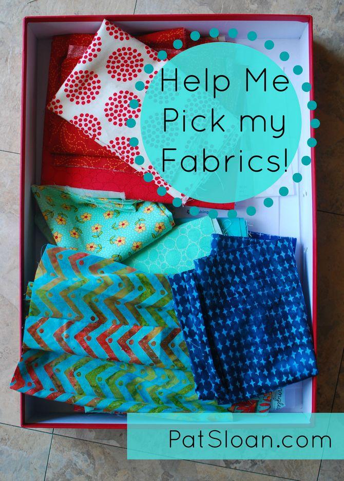 Pat sloan July Aurifil mini pick fabric