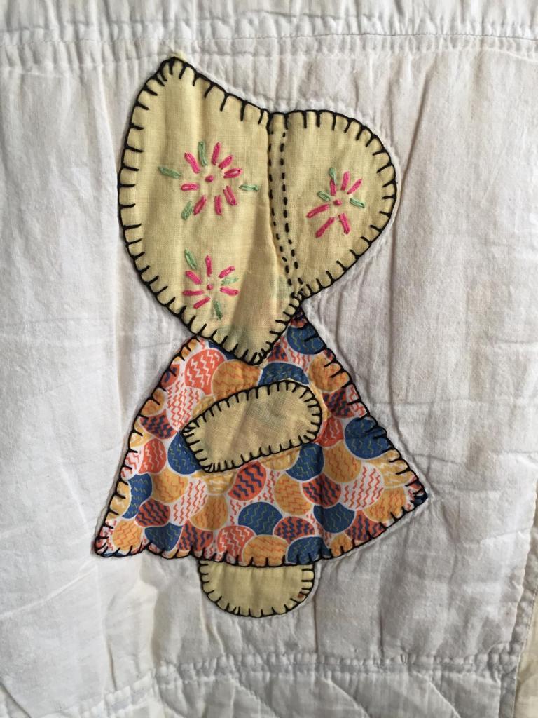 #2 Sun Bonnet Sue Quilt Detail