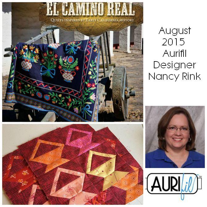 Aurifil 2015 August designers logo