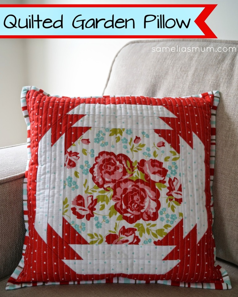 Quilted Garden Pillow