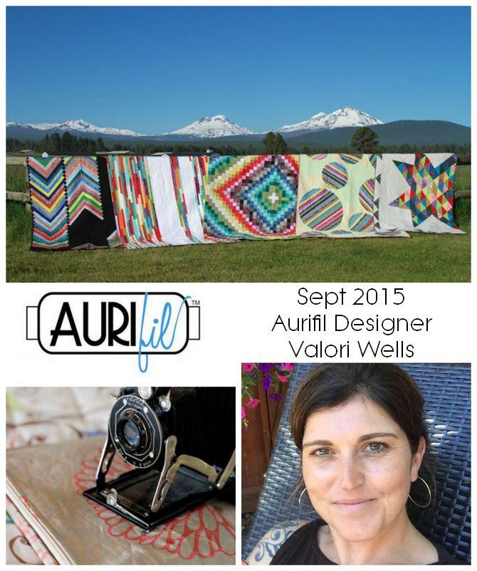 Aurifil 2015 Valori Wells Sept designers logo