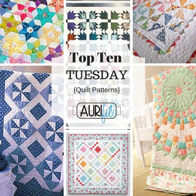 Top Ten Tuesday quilt patterns