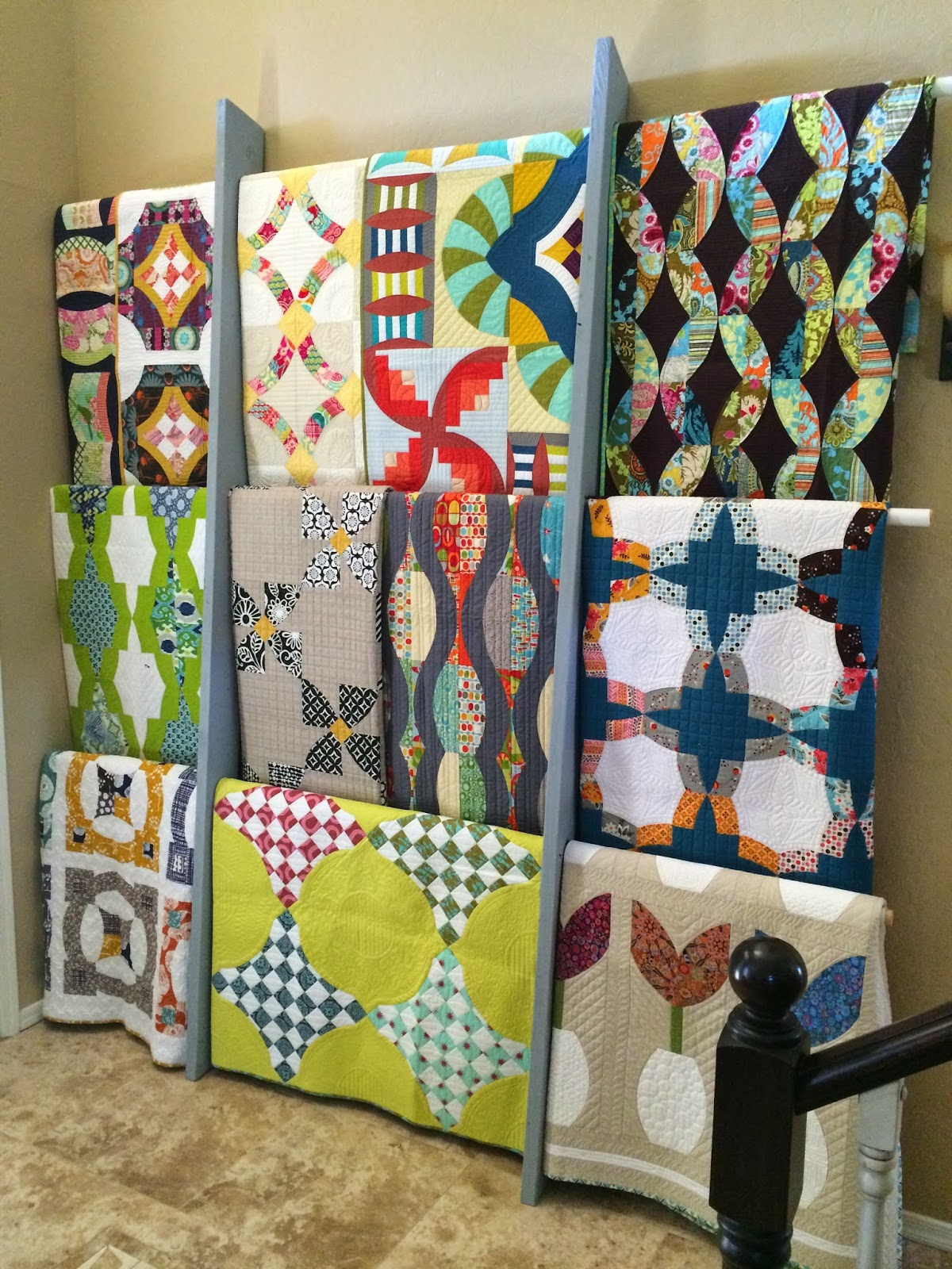 Top ten tuesday quilt labels display and storage for Quilt and craft show