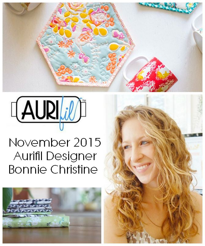 Aurifil 2015 bonnie christine Nov designers logo